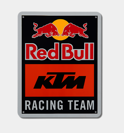 Racing Team Metal Sign